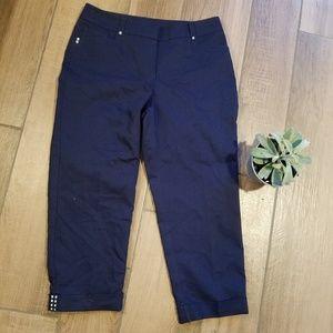 Style & co navy ankle studded dress pants 6 jeans